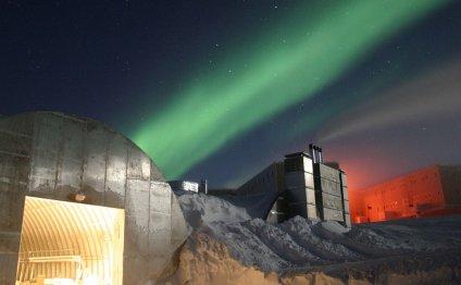 Полярное сияние в Антарктиде