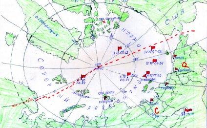 северный полюс карта
