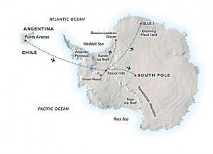 map south pole